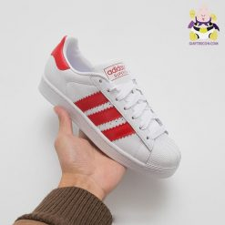 Giày Adidas Superstar đỏ trẻ em