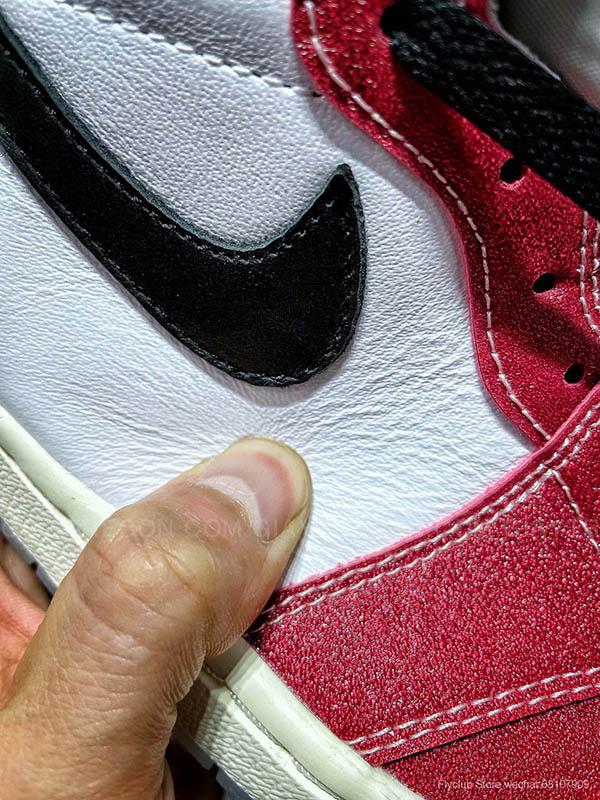 Giày Air Jordan 1 x Trophy Room Chicago Trắng Đỏ