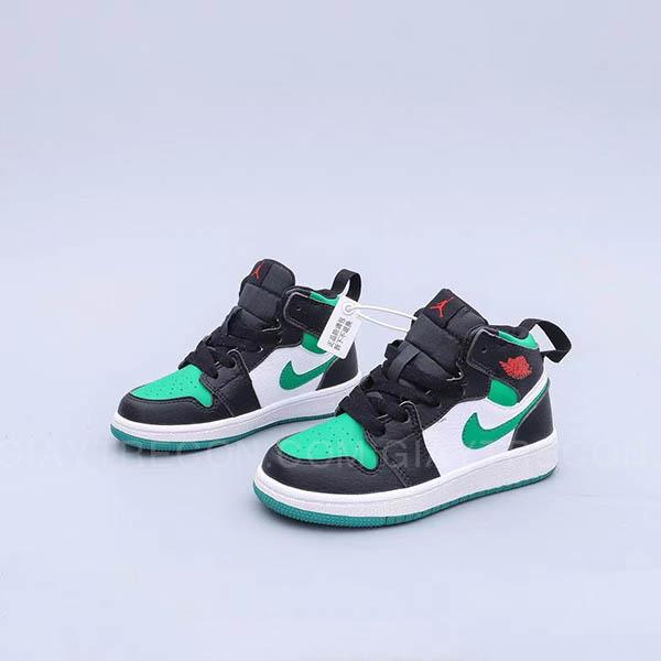 Giày Jordan 1 Mid Green Toe Xanh Đen