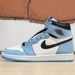 Giày Jordan 1 Retro High White University Blue Black