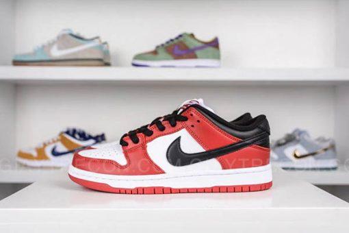Giày Nike SB Dunk Low J-Pack Chicago Trắng Đỏ