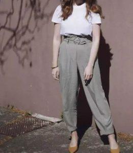 Áo phông trắng + cạp cao cực ngầu