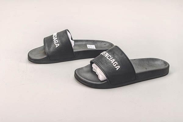 Giày Balenciaga Pool Slide màu đen trắng