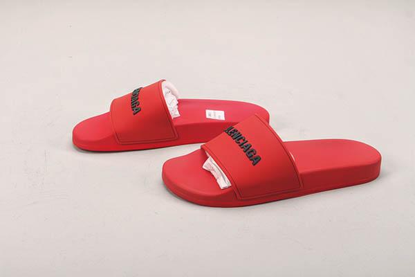 Giày Balenciaga Pool Slide màu đỏ