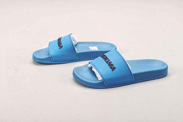 Giày Balenciaga Pool Slide màu xanh dương