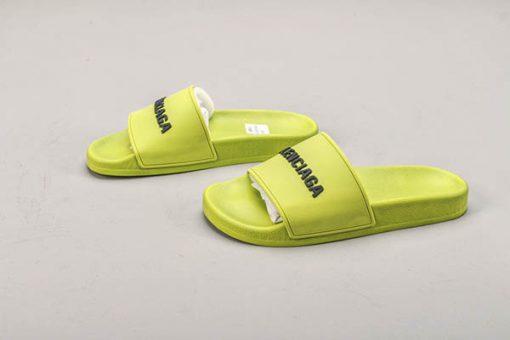 Giày Balenciaga Pool Slide màu xanh lá