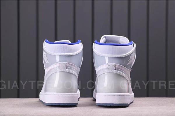 Giày Jordan 1 High Zoom White Racer Blue Trắng Xanh