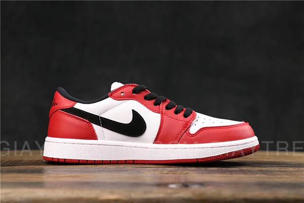Giày Jordan 1 Low Chicago Trắng Đỏ