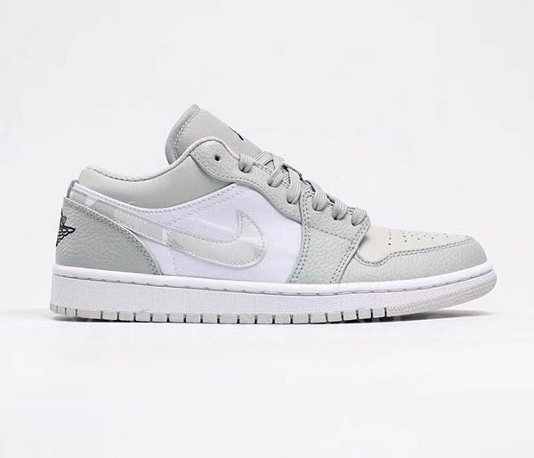 Giày Jordan 1 Low White Camo Trắng Xám