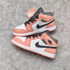 Giày Jordan 1 Mid Pink Quartz Hồng