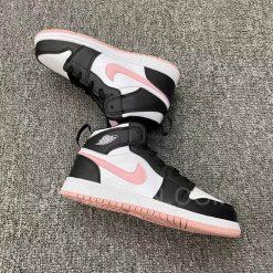 Giày Jordan 1 Mid White Black Light Arctic Pink Đen Hồng