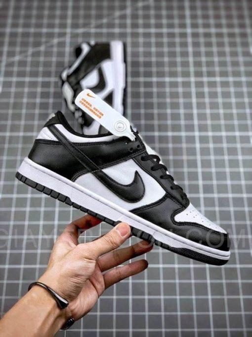 Giày Nike Dunk Low White Black (2021) Trắng Đen