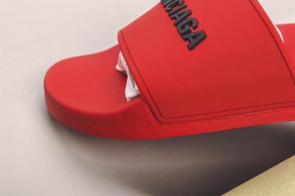 Dép Balenciaga Pool Slide màu đỏ
