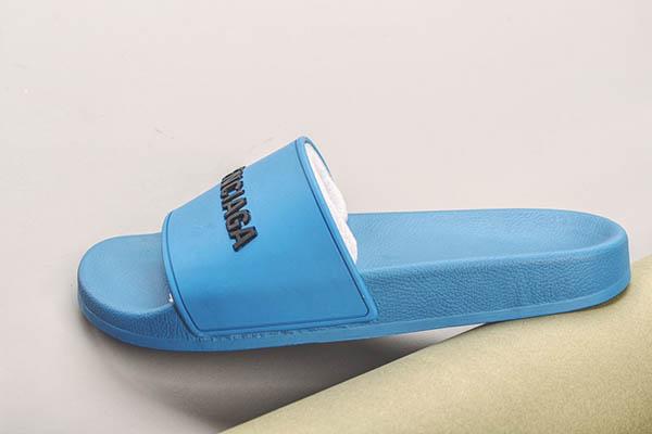 Dép Balenciaga Pool Slide màu xanh dương