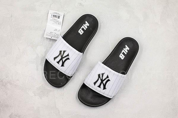 Dép MLB NY trắng đen