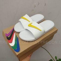 Dép Nike Benassi đổi Swoosh màu trắng