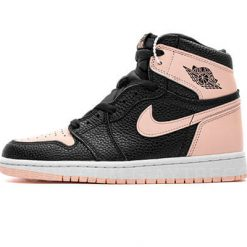 Giày Air Jordan 1 High Black Crimson Tint Đen Hồng