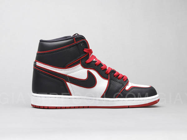 Giày Jordan 1 High Bloodline Đen Viền Đỏ