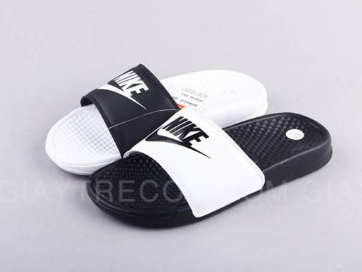 Dép Nike Benassi đen trắng