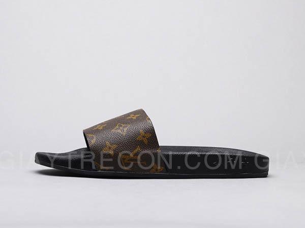 Dép Louis Vuitton Waterfront Mule Monogram Nâu